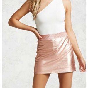 Rose gold and glitter skirt